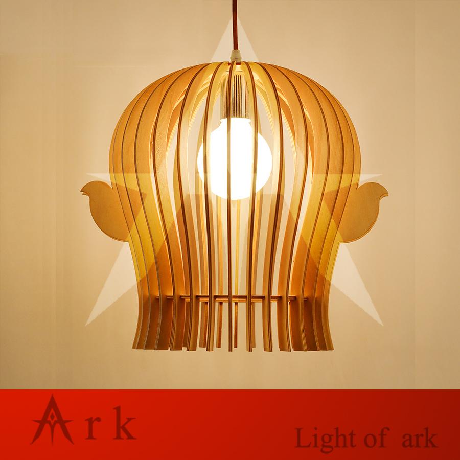 Alta qualità lampada a sospensione in legno acquista a basso ...
