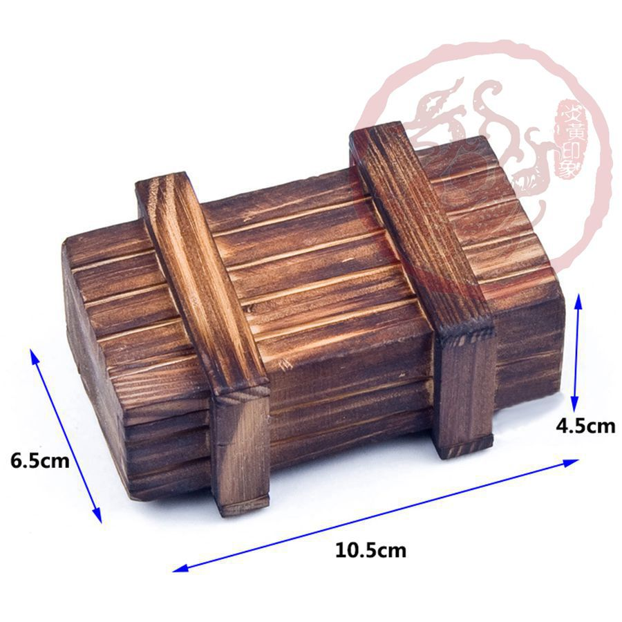 Small 3D Magic Compartment Wooden Puzzle Box With Secret Drawer Brain Teaser Toy Gift Toy(China (Mainland))