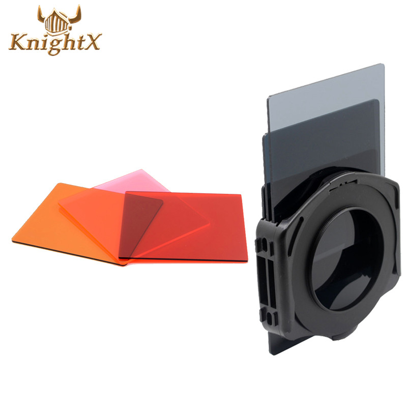 Camera Density Full ND Filter Kit + Brown Red Pink set for Canon Sony NIKON D3100 D5100 D90 D60 D40 + Filter Ring for Cokin P(China (Mainland))
