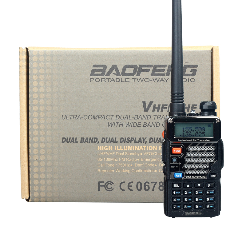 Walkie Talkie Baofeng UV-5RE Plus Dual Band Two Way Radio Pofung UV 5RE FM VOX Dual Display radio comunicador 5W 128CH UHF VHF(China (Mainland))
