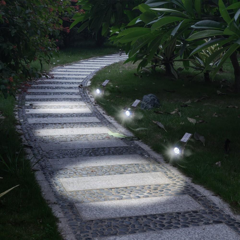 New 2W 5V LED Solar Spotlight 200 Lumens Super Bright Lamp