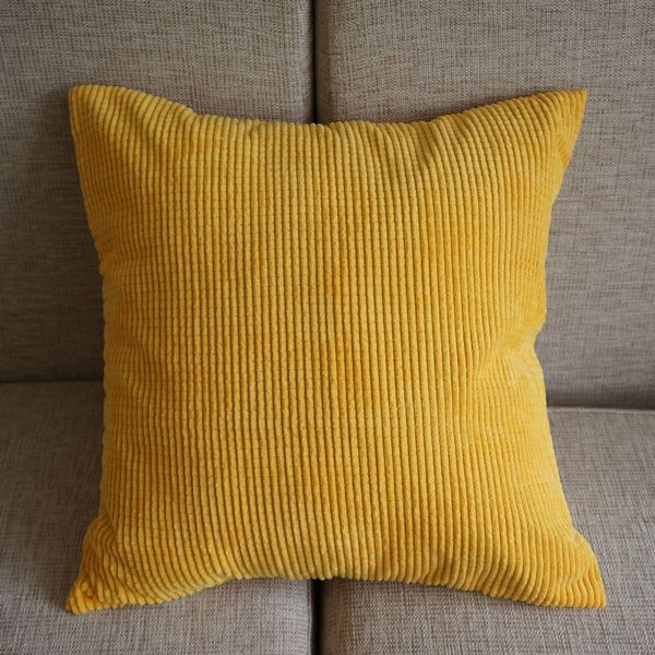 corduroy corn kernels pillow case home office sofa soft decor cushion cover 43cm 43cm 17 yellow. Black Bedroom Furniture Sets. Home Design Ideas