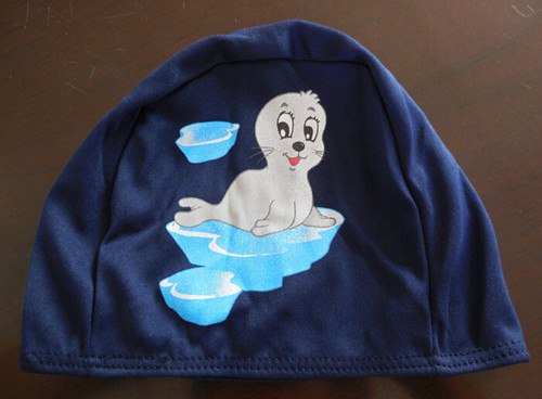 Free Shipping High Quality Polyester Swimming Cap For Kids With Cartoon Cloth Swim Caps(China (Mainland))