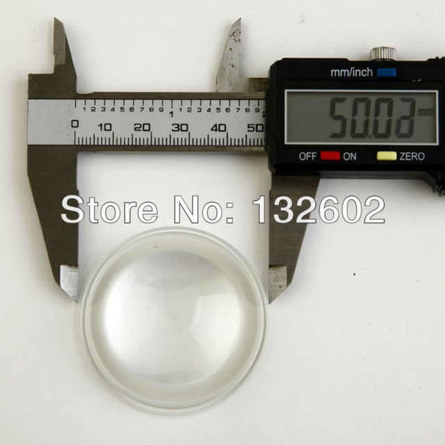 50mm LED Lens Reflector Collimator with Base for LED Lamp Blub High temperature resistant diameter 50mm*18.5mm