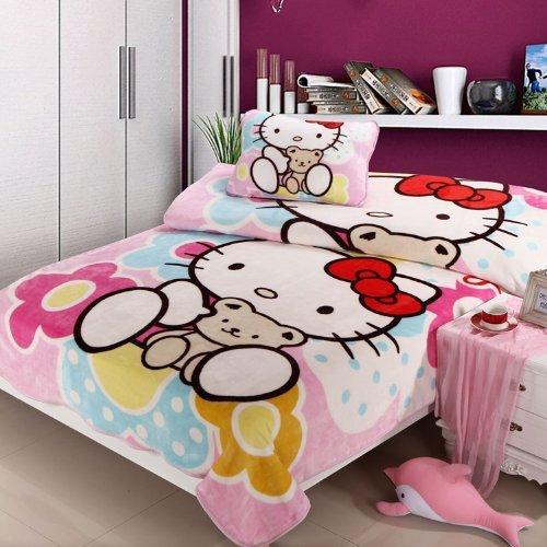 Hello Kitty Bedding Hello Kitty Queen Comforter Set Hello Kitty Blanket Sheet 4pcs In Bedding