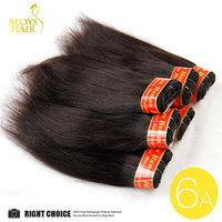 البرازيلي عذراء الشعر مستقيم رخيصة الشعر الإنسان نسج 6 قطعة/الوحدة 6a ملحقات الشعر البشري حزم الطبيعي الأسود 8 بوصة 300 جرام/وحدة