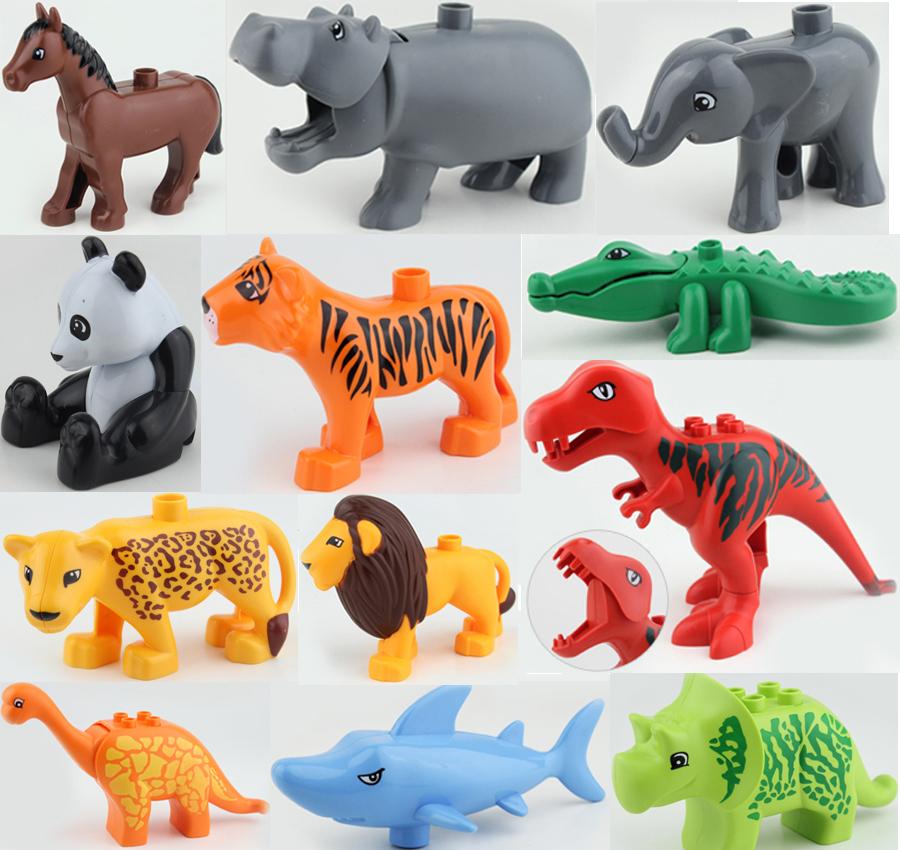 2016 New Original Large Animals Building Blocks Parts Toys Accessories Collection Animal Model Bricks Compatible Legoe Duploe(China (Mainland))