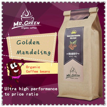Only Today!!High-quality Golden Mandeling Coffee Beans,Freshly Baked Coffee Bean Organic Coffee Slimming Coffee Free Shipping(China (Mainland))