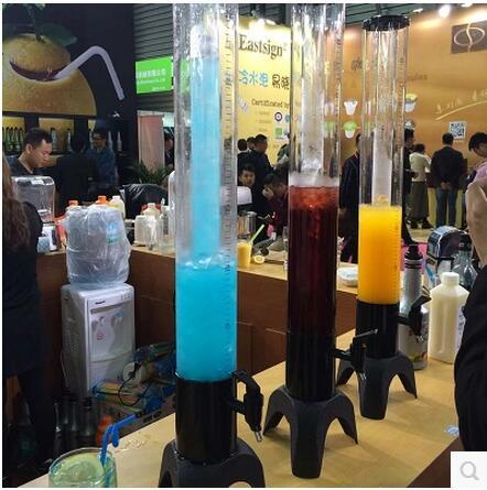 2017 colorful new version beer tower beer dispenser cerveja torre distribuidor led light bar beer can print logo 1.5L(China (Mainland))