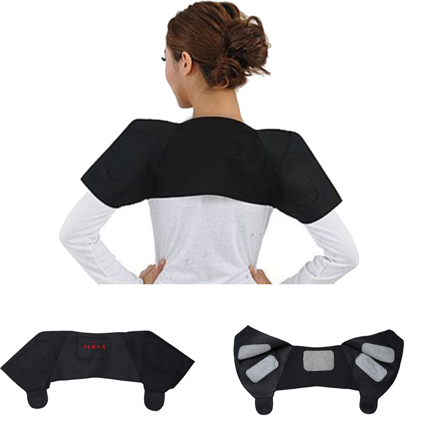 1piece Self-heating Tourmaline Shoulder Magnetic Therapy Support Brace Belt For The Back Posture Corrector Massager Products(China (Mainland))