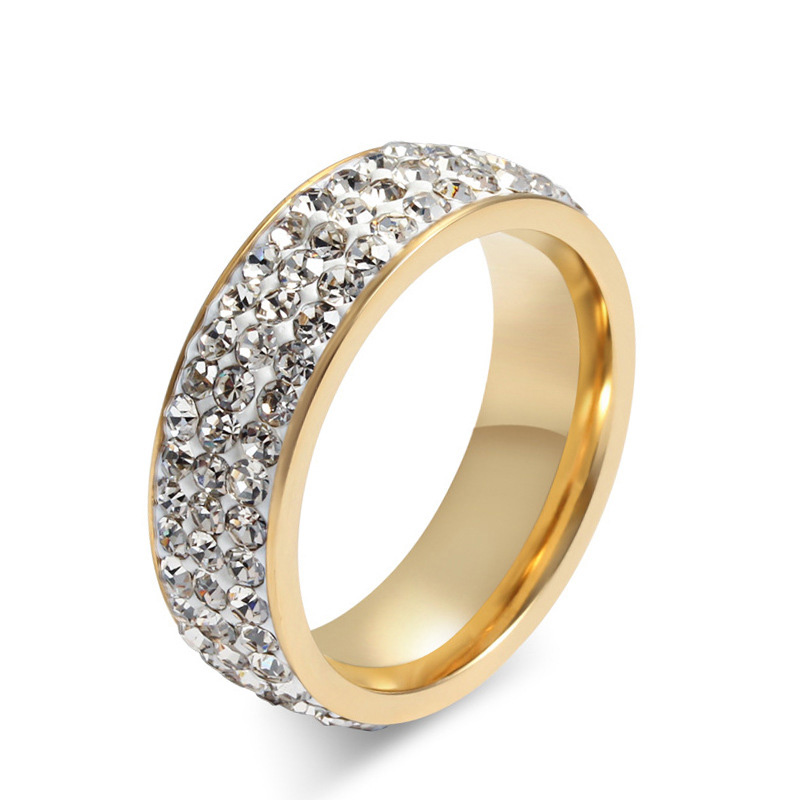 2016 fashion Jewelry trendy Style Size 6 7 8 9 10 11 12 13 14 full crystal Ring Gold Plated Rings For Men Women Lover's Ring()