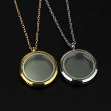 jewelry Round frames box with love Memorial small gift couple pendant necklace necklaces & pendants fashion accessories XL1359(China (Mainland))