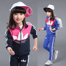 Girls Brand Tracksuits 2016 New Fashion Spring Autumn Children Clothing Sets Kids Long Sleeve T-shirt + Pants Outfit Age 4-12T(China (Mainland))