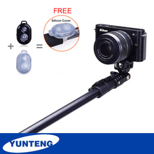 Portable Yunteng 188 Camera Stick With Remote Control For Gopro Hero 4 Xiaomi Yi Action iPhone 5 Cameras Tripod Monopod