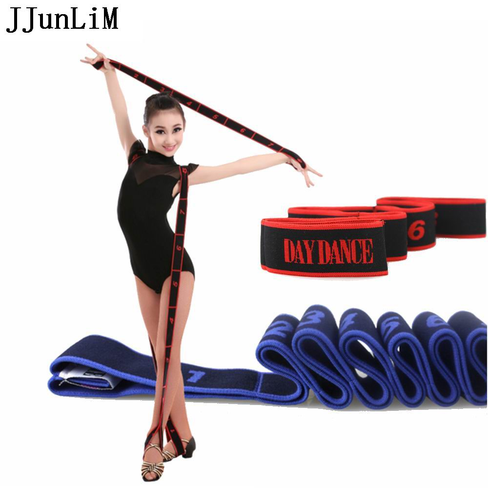 2016 Newest Kids Girls Latin Bands Pilates Yoga TP Stretch Resistance Bands Fitness Elastic Band Crossfit dance training bands(China (Mainland))