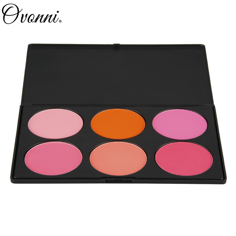 New 6 Colors Party Cute Pink Blusher Powder Peach Makeup Blush Palette Cosmetics For Women Professional Makeup Product(China (Mainland))