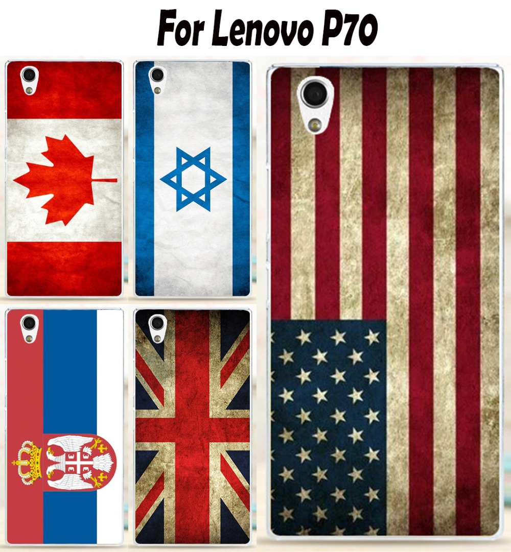 22 Patterns Painting Retro National Flag phone Cases For Lenovo P70 P70T Case Colored Drawing Back Cover Protective Skin Shell(China (Mainland))