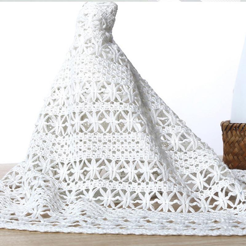 5 yards High Quality Cotton Plain Weave Jacquard Women Hollow Fabric sewing supplies DIY Garment Accessories(China (Mainland))