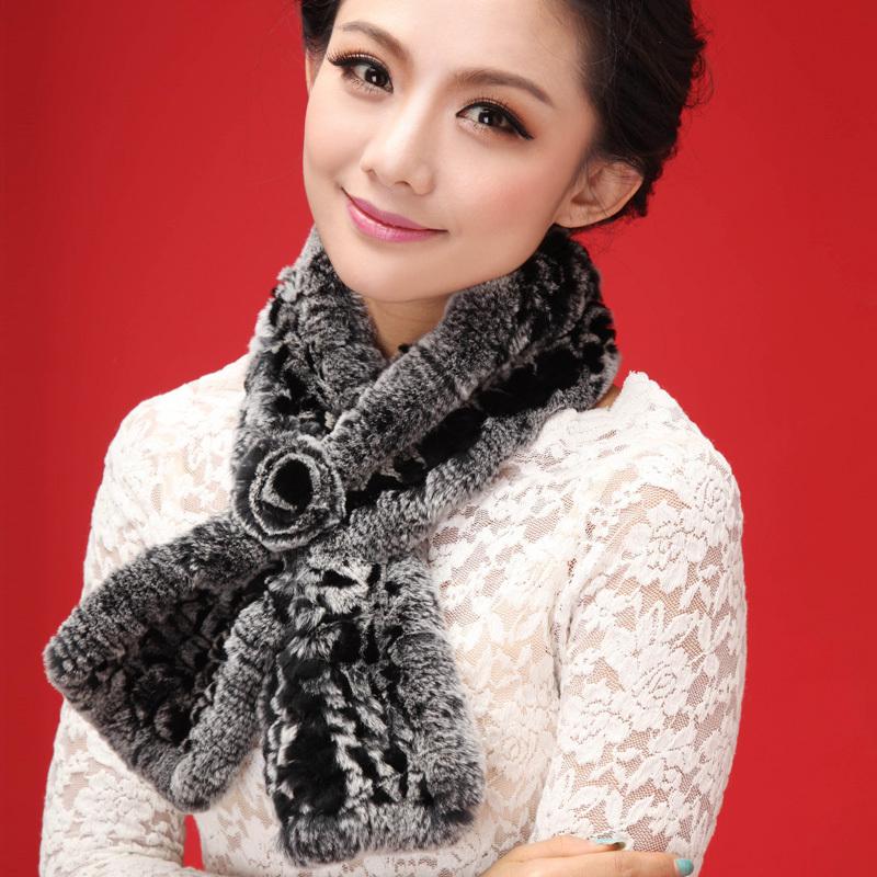 winter women lady Rex Rabbit fur neck fashion charm warmer scarf wrap cape shawl stole poncho cape shrug scarf women new