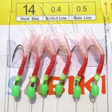 Sabiki Hook Top Quality Fishing Lure Soft Luminous Shrimp 7#-12# Hook 1.3M Main Length fishing tackle Soft Bait Free