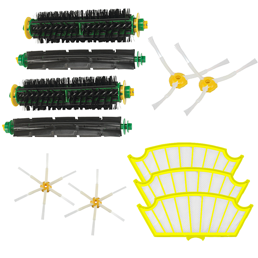 High Quality Bristle &amp; Flexible Beater Brush Armed Filter kit for iRobot Roomba 500 Series Vacuum Cleaner 520 530 540 550 560<br><br>Aliexpress