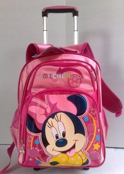 Kids  Trolley  Bags  Girls Lovely School Bags Minne Mouse  Travel  Backpack  Bags