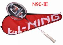 Original Futter Carbon Badmintonschläger N90-3 hochwertigen li ning n90iii schläger, freies verschiffen(China (Mainland))