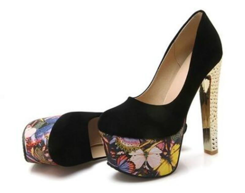 ซื้อ 15เซนติเมตรรองเท้าส้นสูงแฟชั่นราชินีอารมณ์เซ็กซี่ไนท์คลับกันน้ำสีผสมแสงปากรองเท้าชุด
