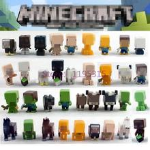 36pcs/lot Minecraft More Characters Hanger Creeper Action Figure Toys Cute 3D Minecraft Models Games Collection Toys #F(China (Mainland))