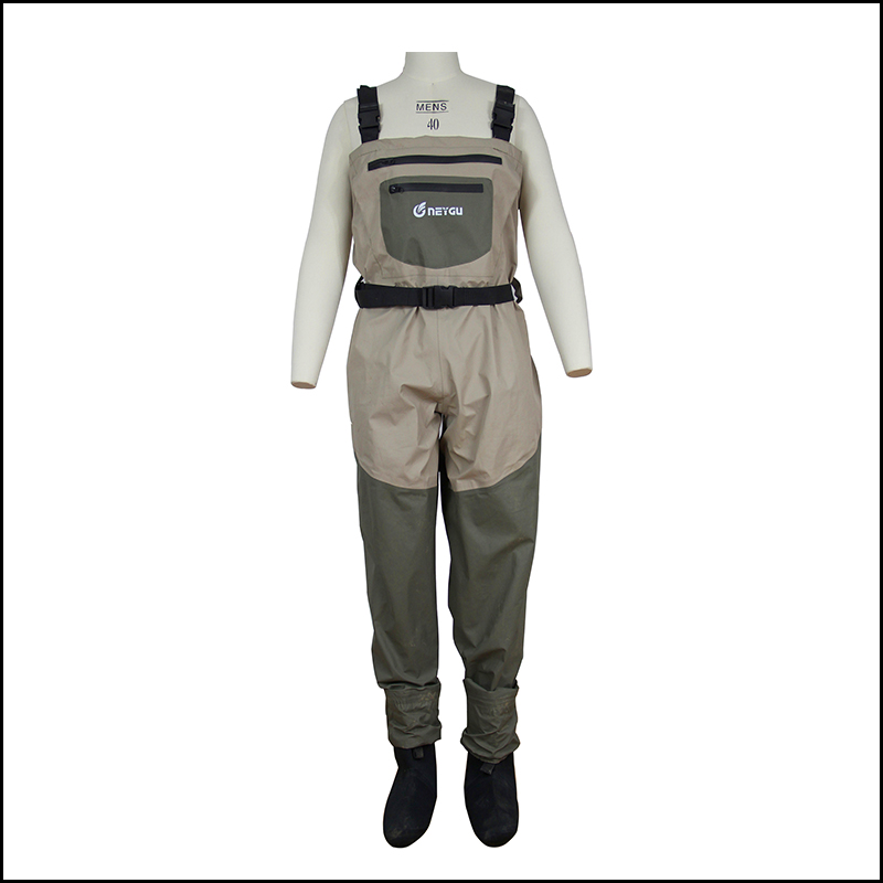 100% waterproof fishing wader, breathable wading pants with neoprene socks(China (Mainland))