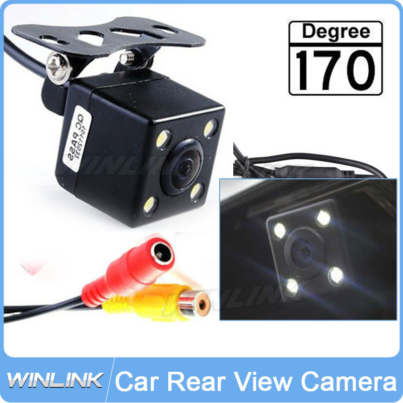 Universal 170 Degree Waterproof Car Rear View Camera Parking Assistance System HD CCD with 4 LED Night Vision Backup side(China (Mainland))