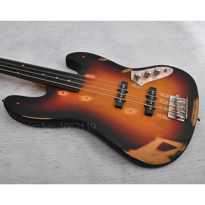 NEW!! Top Quality Do Old 4 string bass guitar Ebony fingerboard Alnus body Custom Shop Bass Handmade Musical Instruments(China (Mainland))
