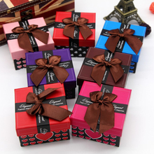 Bowknot Square Watch Gift Box for watch Case With Pillow Bracelet Bangle Jewelry Wristwatch Package Watches Packing Boxes