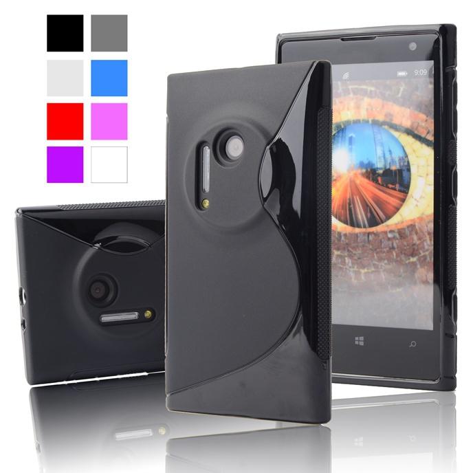 Гаджет  For Nokia 1020 S LINE Anti Skiding Gel TPU Slim Soft Case Back Cover for NOKIA LUMIA 1020 RM876 Mobile Phone Rubber silicone Bag None Телефоны и Телекоммуникации