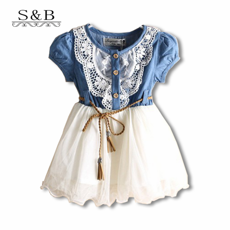 2015 New Girls Dress Children's Clothes Voile Short Sleeve Dress Baby Clothing Set Wholesale Summer Girls Clothes AA888(China (Mainland))