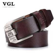 Buy VGL Designer Vintage Belts Men High Genuine Leather Strap Male Pin Buckle Mens Wide Casual Belt Jeans Ceinture Homme for $12.40 in AliExpress store