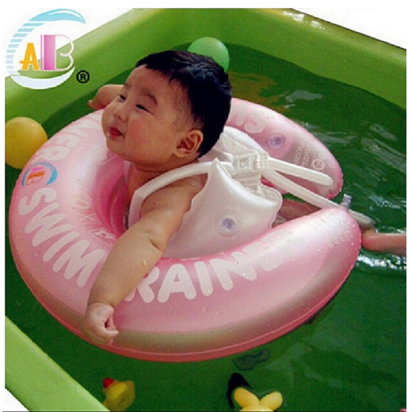 Baby Swim Ring Infant Swim Trainer Baby Shoulder Strap Float Laps Inflatable Neck Rubber Circle Swimming pool accessories 2 size(China (Mainland))