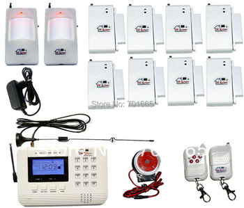 900/1800/1900MHz NEW SZ bazaar HOT  Wireless  GSM/PNTS/SMS/Call Autodial  LCD Home Security Alarm System 09