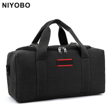 Buy Large Capacity Men Travel Bags Casual Canvas Shoulder Bags Thick Travel Duffle Totes Bags PT1038 for $19.99 in AliExpress store