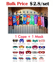 Superhero Cape ( 1 cap 1 masque ) - superman batman spiderman super hero capes pour enfants parti Cosplay(China (Mainland))