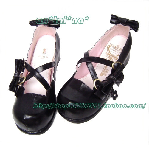 Фотография Princess sweet lolita gothic lolita shoes custom  disassembly bow lolita princess shoes 9042  high platform