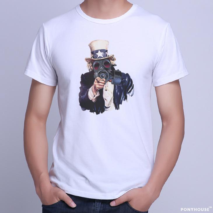 Гаджет  2015J NQU HT GAS MASK UNCLE SAM mask uncle Sam T-shirt short sleeved men None Изготовление под заказ