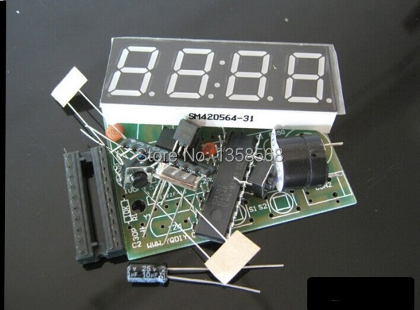 Гаджет  High Quality C51 4 Bits Electronic Clock Electronic Production Suite DIY Kits Free Shipping None Электронные компоненты и материалы