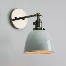 Best Promotion E27 Retro Vintage Antique Industrial Bowl Sconce Loft Rustic Edison Wall Light Bulb Lampshade Holder(China (Mainland))