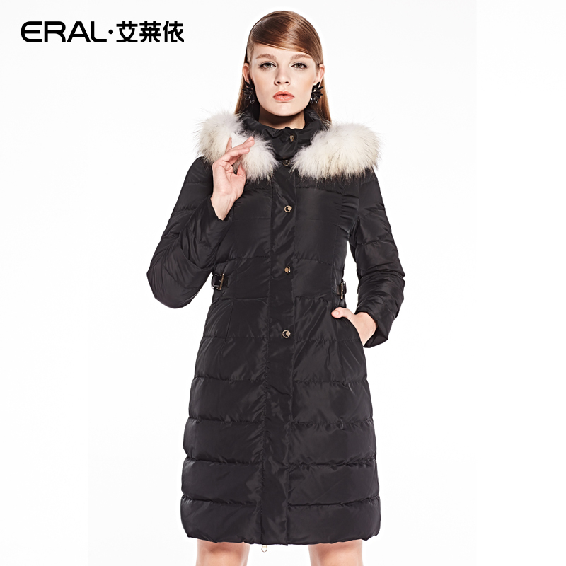 ERAL 2014 New Arrival Winter Coat Womens Slim Medium-long Hooded Thick Down Jacket with Fur Collar ERAL6055CОдежда и ак�е��уары<br><br><br>Aliexpress