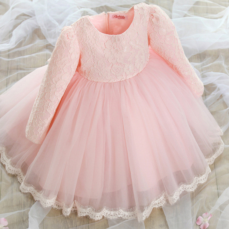 1PC Girls Satin+ Sheer Lace Princess Dress Full Sleeve Decorated with Fashion Butterfly Ribbon Bow Children Clothing GI2087<br><br>Aliexpress