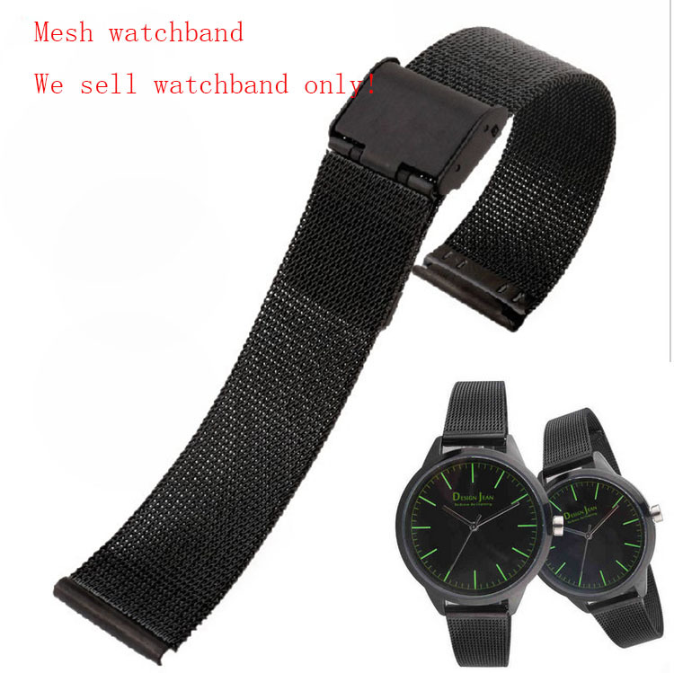 Black 10mm 12mm 14mm 16mm 18mm 20mm 22mm 24mm Stainless Steel Mesh Bracelet Strap Replacement Wrist Watch Band Free Shipping<br><br>Aliexpress