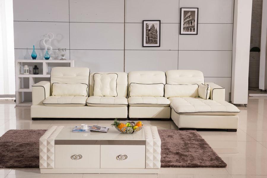 2015 Modern Furniture Genuine Leather Sectional Sofa Set