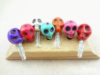 Novelty Items Skull Charm Ear Hole Anti Dust Plugs Europe America Punk Style Jewelry Accessories Fone De Ouvido Klick 50pcs ZB06
