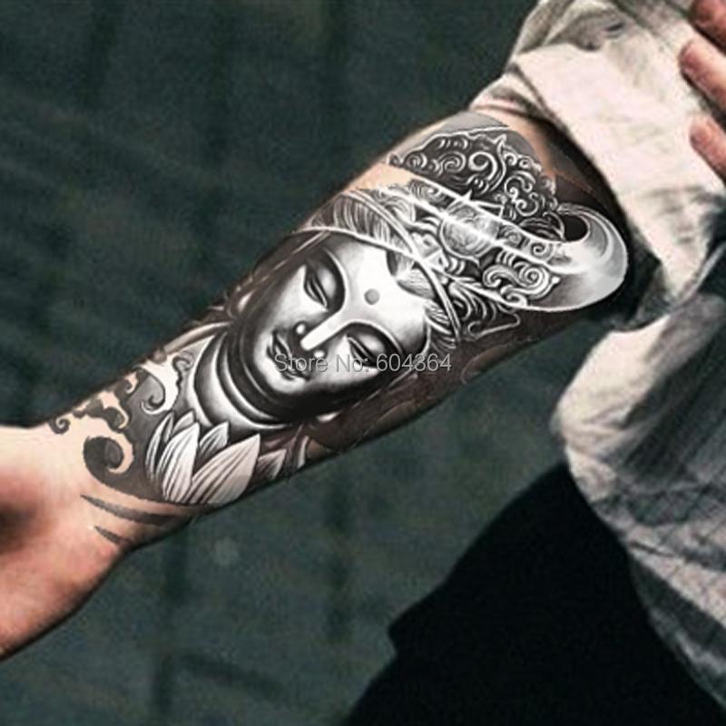 1pc/lot/AX27,Armband Temporary Tattoo/Mysterious Women Buddha/waterproof Big size fake tatoo sticker art/Arm,Armband,shank,Chest(China (Mainland))